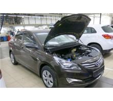 Упоры капота для Hyundai Solaris от 2011 г.в.