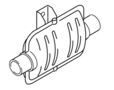 Глушитель выхлопных газов Webasto (19562E)