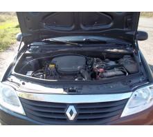 Упоры капота для Renault Logan 2004 - 2014 г.в.