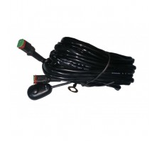 Проводка фар NANOLED с реле и выключателем (для двух LED фар)
