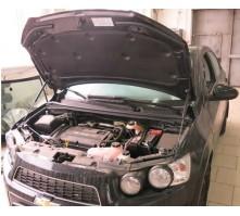 Упоры капота для Chevrolet Aveo 2011 - Н.В.