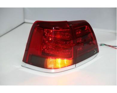 Задние фары Red Black для Toyota Land Cruiser 200 2008 - 2013 г.в.