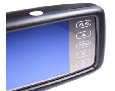 """Зеркало заднего вида Pleervox PLV-MIR-43STBL с монитором 4.3"""" и крепежом для Nissan (с Bluetooth)"""