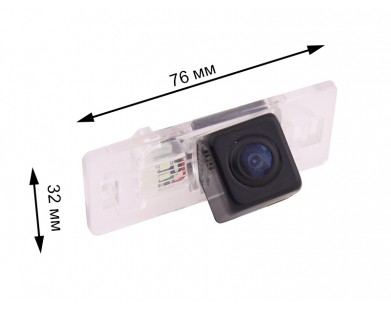Камера заднего вида с динамической разметкой Pleervox для AUDI A1, A3 от 2011 г.в., A4 от 2008 г.в., A5, A6 от 2011 г.в., Q3, Q5, TT