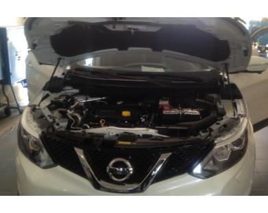 Упоры капота для Nissan Qashqai 14+