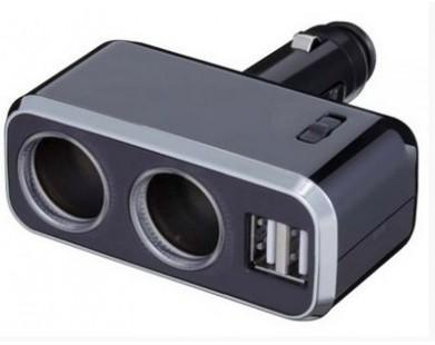 Разветвитель прикуривателя 2 гнезда Napolex FIZZ-967 + 2 USB