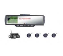 Bluetooth зеркало заднего вида Pleervox MIR-V9 со встроенным дисплеем и 4 видео-парктрониками