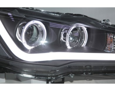 Передние фары Angel Eyes V4 Type для Mitsubishi lancer
