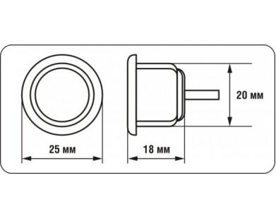 Датчик парковки AUTRIX (светло-серый, 20 мм)
