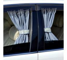 Автомобильные шторки серые (размер LL, 60 см.)