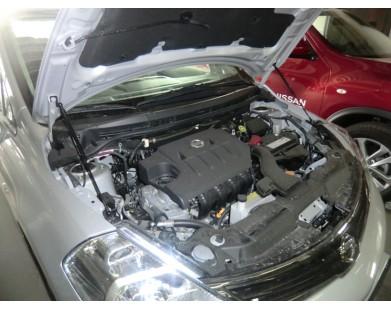 Упоры капота для Nissan Tiida 07-